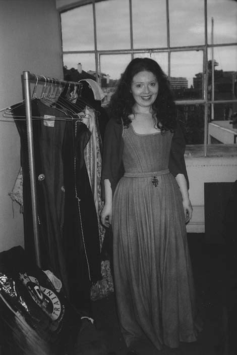 catherine harvey as deirdre (in the dressing room)